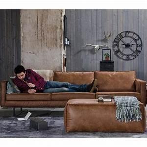 canape 35 places en cuir bronco par drawerfr With tapis oriental avec canapé en cuir camel