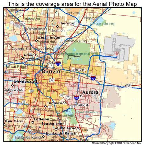 aerial photography map  denver  colorado
