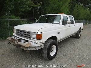 Sell Used Ford F350 Custom Crew Cab Pickup Truck Long Box