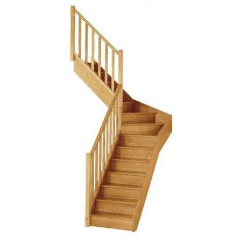 escalier quart tournant milieu gauche soft classic structure bois marche bois leroy merlin