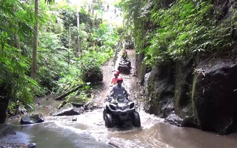 bali atv ride  cave waterfall  river