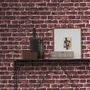Mur Effet Brique : papier peint intiss imitation mur de briques rouge ~ Melissatoandfro.com Idées de Décoration