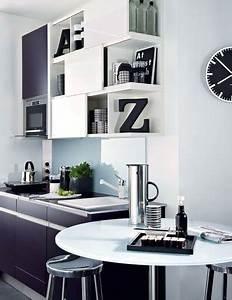 amenagement petite cuisine 12 idees de cuisine ouverte With wonderful meubles pour petite cuisine 6 amenagement cuisine en l marie claire