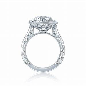 Tacori engagement rings royalt bloom diamond 98ctw setting for Wedding rings tacori