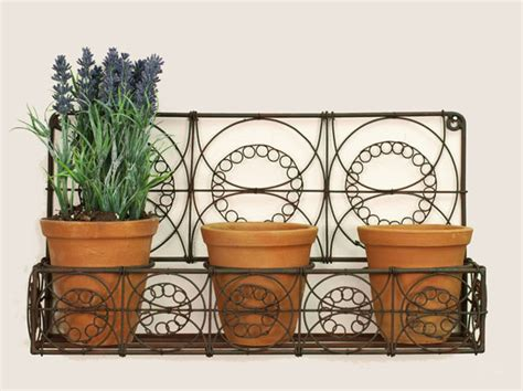 metal wall planters green rust metal wall planter with three pots outdoor decor