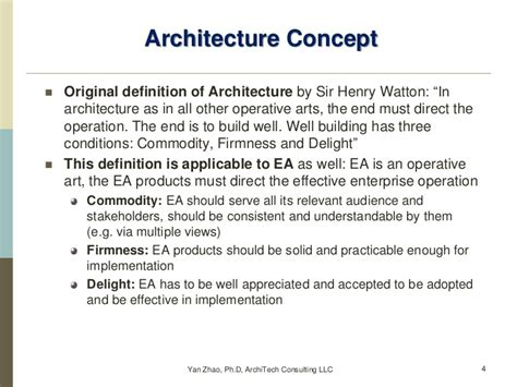 Definition Architecture by Enterprise Architecture Vs Collection Of Architectures