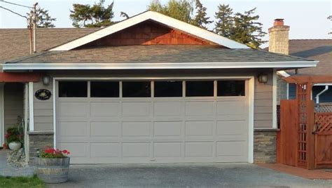 Doublewide Garage Door With Window Tops Saanich, Victoria