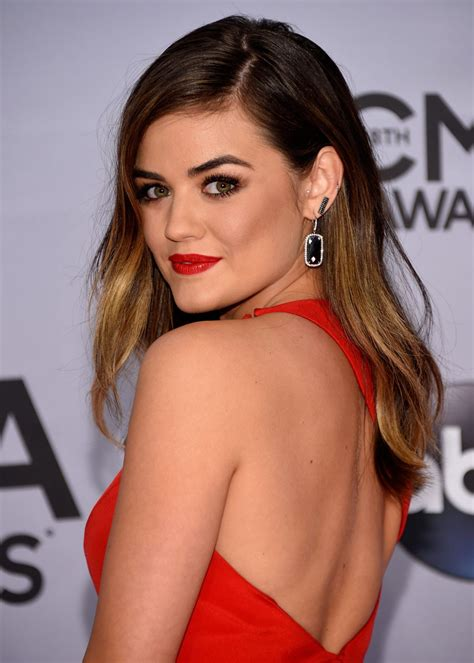 LUCY HALE at 2014 CMA Awards in Nashville – HawtCelebs