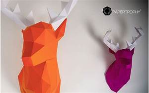 Trophée Animaux Origami : troph e mural origami de cerf rose pour la d coration de chambre enfant troph es animaux en ~ Teatrodelosmanantiales.com Idées de Décoration