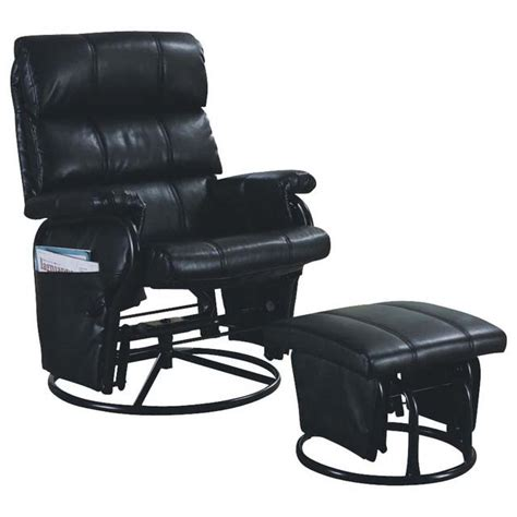 leather swivel recliner with ottoman monarch specialties i7278 leather look swivel rocker