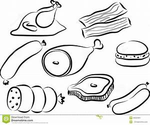 Meat Doodle Stock Vector - Image: 45223301