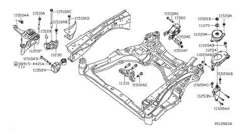 Nissan Altima 2010 Engine Diagram by 11254 Ja01a Genuine Nissan Parts