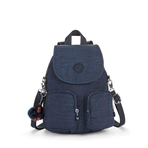 kipling firefly up medium backpack denim bluewater 163 89 00