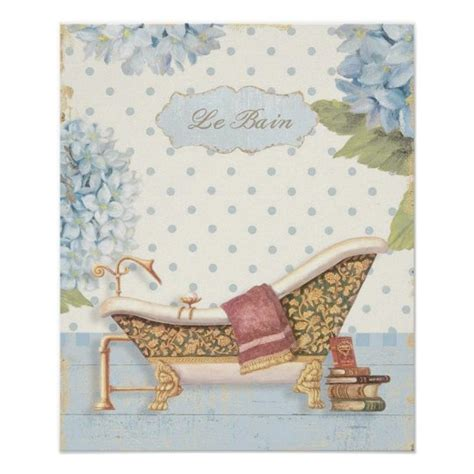 """Price listed is for one shelf. Delicate Vintage French """"Le Bain"""" Bathroom Decor   Zazzle.co.uk"""