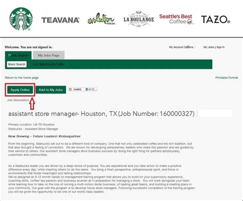 parts manager how to apply for starbucks