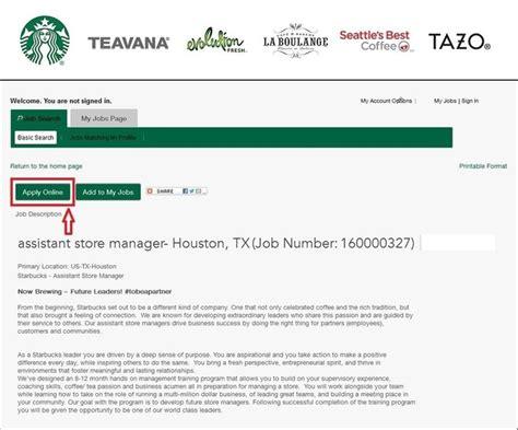 Starbucks Application How To Apply For Starbucks Jobs Online At Starbucks Com
