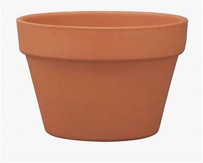 Pot Clay Clip Clipart Ceramic Flower Onlinelabels