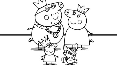 peppa pig   family coloring book coloring pages