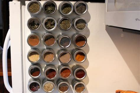 Magnetic Spice Rack For Refrigerator by 48 Kitchen Storage Hacks And Solutions For Your Home