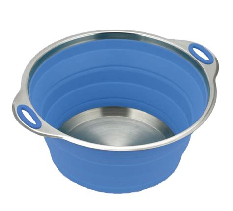 collapsible camping cookware silicone salad bowl caravan saving space