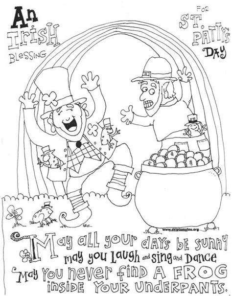 cute st patricks day coloring pages  crafty