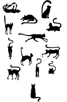 Black cat silhouette for your design | Black cat tattoos