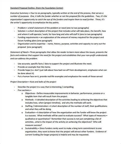 proposal outline templates    premium