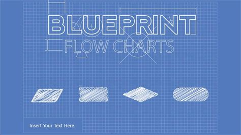 blueprint flowchart powerpoint diagram slidemodel