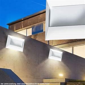 Terrassen Beleuchtung Außen : 2er set wand beleuchtung led terrassen lampen 5 w au en leuchten gl nzend ip44 ebay ~ Sanjose-hotels-ca.com Haus und Dekorationen