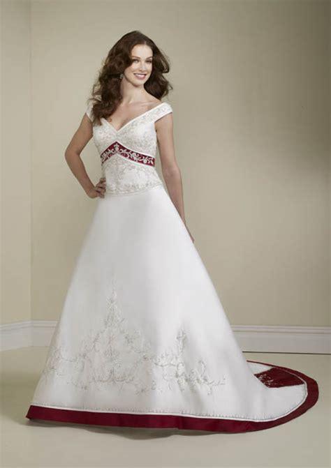 elegant bridal style timeless  elegant red  white