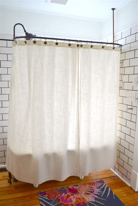 claw foot tub shower curtains clawfoot tub shower sticking problem solved the white