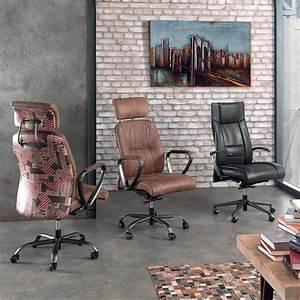 Fauteuil De Bureau Cuir : fauteuil de bureau phoenix design vintage en cuir marron ~ Teatrodelosmanantiales.com Idées de Décoration