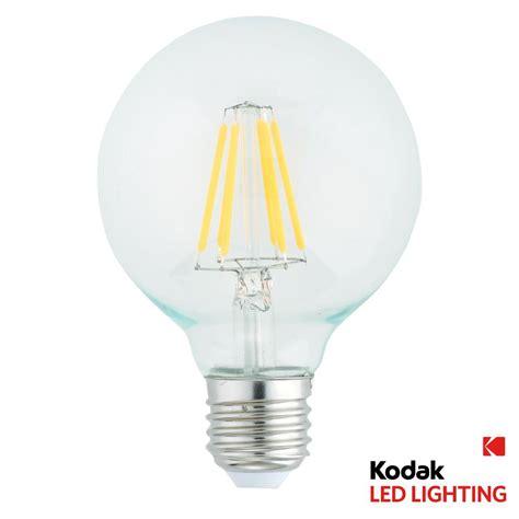 kodak 50w equivalent warm white g95 globe dimmable led