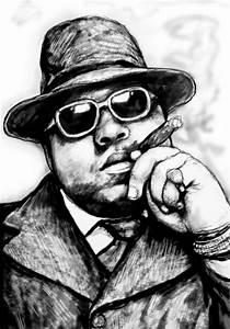 Biggie Smalls Art Drawing Sketch Portrait - 2 Painting by ...