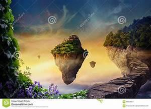 Hin Und Mit : traumwelt mit sich hin und herbewegenden inseln stock abbildung illustration von magie ~ Eleganceandgraceweddings.com Haus und Dekorationen