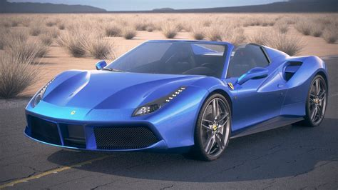 Gdzy submitted a new resource: Ferrari 488 GTB Spider 2017 3D model MAX OBJ 3DS FBX C4D LWO