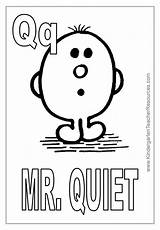 Quiet Coloring Mr Pages Letter Template sketch template