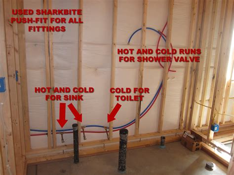 how to install pex pipe under sink how to finish a basement bathroom pex plumbing