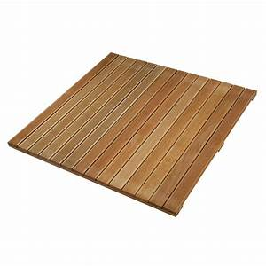 dalle terrasse bois exotique 100 ep 24 mm With dalle de terrasse en bois 1mx1m