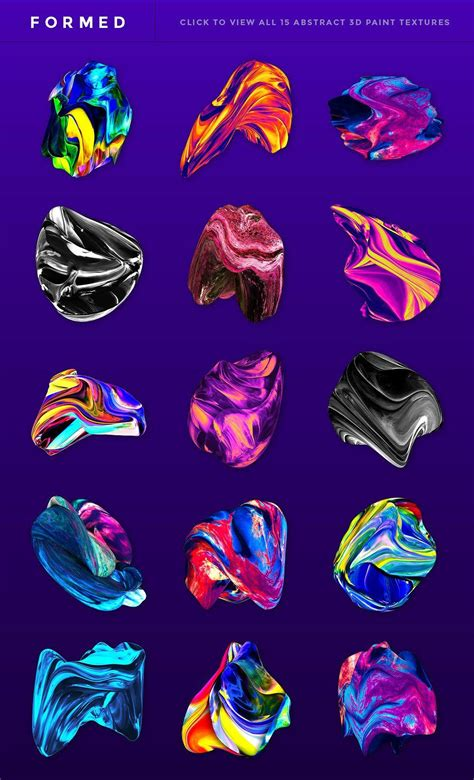 Formed: Abstract 3D Textures/Brushes by Jim LePage on