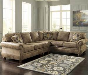 Signature design by ashley larkinhurst earth roll arm for Sectional sofas by ashley furniture