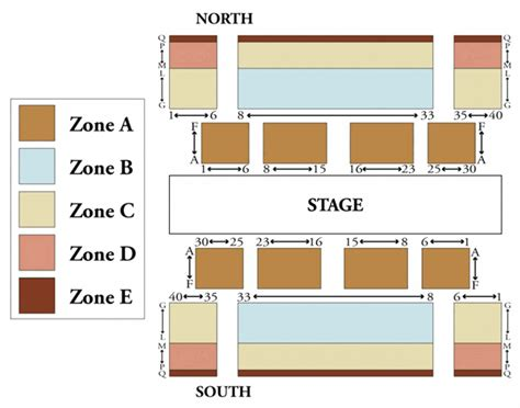 park avenue armory  york ny seating chart stage