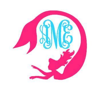 mermaid monogram instant  cut file svg dxf eps ps