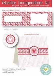 Valentine card labels correspondence set free fillable for Correspondence labels