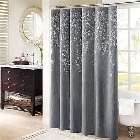 madison park tara embroidered shower curtain bed bath