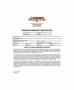warranty certificate template 9 free word pdf With roof certification template