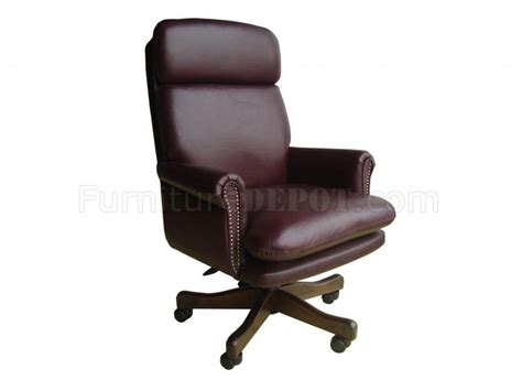 burgundy brown or black top grain classic leather office