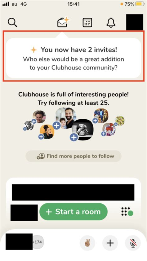 Clubhouse 招待 枠