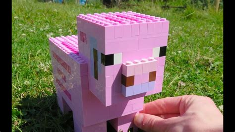 lego pig minecraft youtube
