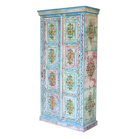 Painted Armoire For Sale Vintage Distressed Painted Blue Armoire